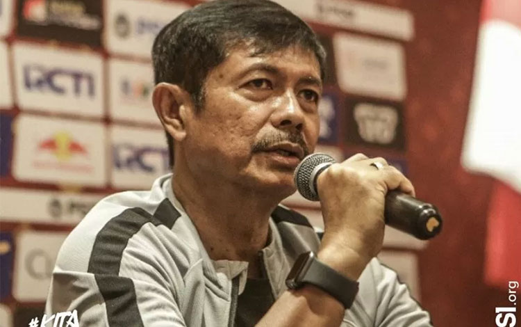 Pelatih tim nasional U-23 Indonesia Indra Sjafri. (Persatuan Sepak Bola Seluruh Indonesia/PSSI)
