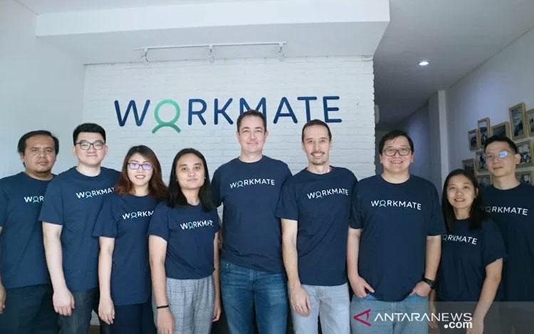 Manajemen Workmate, platform penyalur tenaga kerja sektor informal. ANTARA/HO Workmate/am.