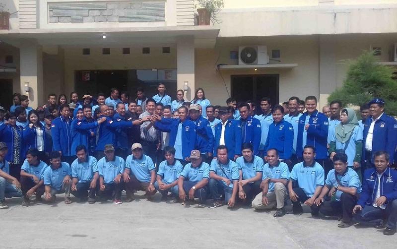 Pertemuan PAC dan DPC Partai Demokrat Kotim dalam kegiatan pendidikan politik di Sampit, Minggu, 17 November 2019.