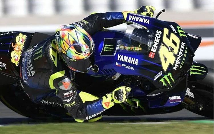 Valentino Rossi (Monster Energy Yamaha) menjalani tes pramusim di Sirkuit Ricardo Tormo, Valencia, Selasa (19/11/2019) (HO/Yamaha Motor Racing Srl)