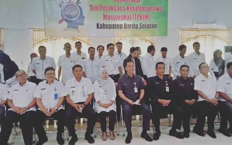 Sosialisasi Tim Pelaksana Kesehatan Jiwa Masyarakat yang digelar Dinas Kesehatan Barito Selatan, Rabu, 20 November 2019.