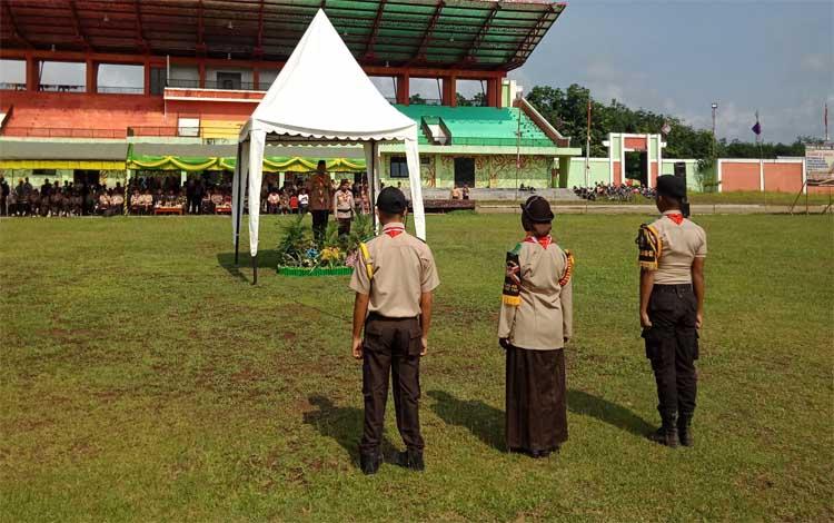 Wakil Bupati Murung Raya pimpin peringatan Hari Pramuka ke 58 dan pembukaan lomba tangkas, Jumat 22 November 2019