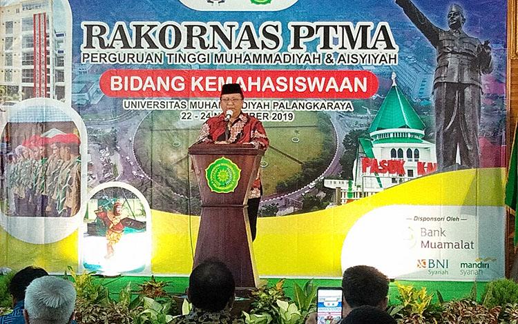 Ketua Umum Majelis Dikti Litbang PP Muhammadiyah, Lincolin Arsyad menyampaikan keinginannya salah satunya SDM harus maju dan mahasiswa yang unggul.