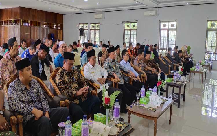 Pengukuhan Badan Amir Zakat Nasional (Baznas) Kabupaten Sukamara periode 2017-2022
