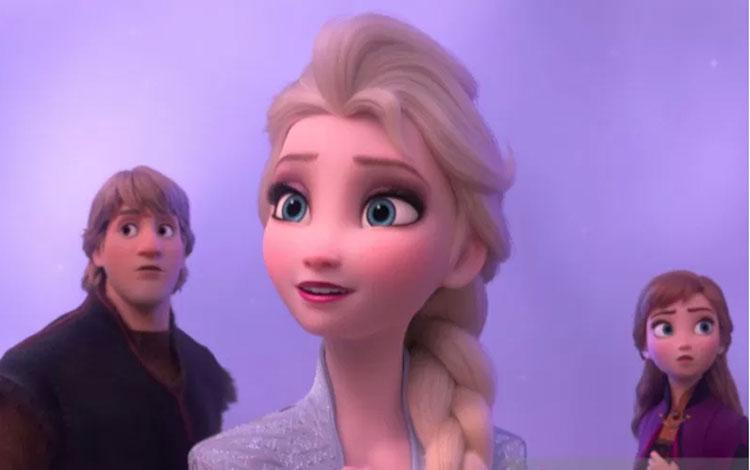 """Dilansir dari Variety, Minggu, film sekuel kedua \""""Frozen\"""" ini menghasilkan 41,8 juta dolar AS dalam penayangan domestik pada hari Jumat, dan 57,8 juta dolar AS secara internasional. (ANTARA/Disney)"""