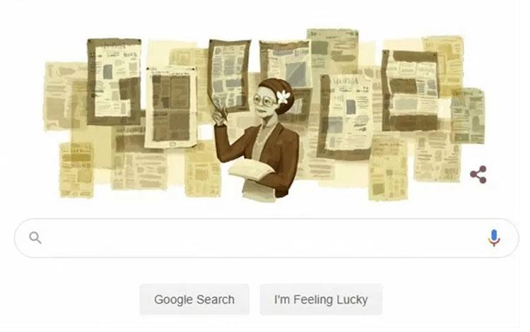 Google Doodle merayakan 101 Ani Idris (Tangkapan layar Google)