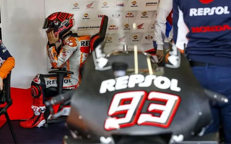 Marc Marquez (Repsol Honda) menjalani tes pramusim di Sirkuit Jerez-Angel Nieto, Senin (26/11/2019)