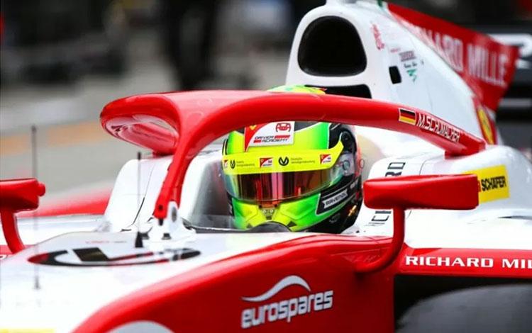 Pebalap Formula 2 dari tim Pertamina Prema Racing Mick Schumacher. ANTARA/Prema Racing