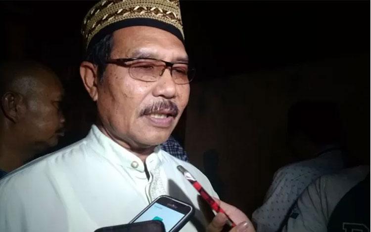 Ketua PN Medan Sutio Jumagi Akhirno, di RS Bhayangkara Medan, Jumat malam. (ANTARA/Nur Aprilliana B