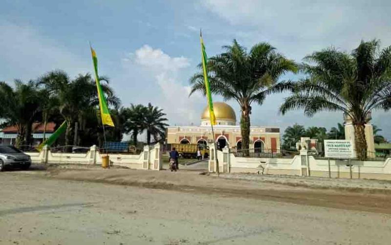 Lokasi tabligh akbar UAS di Masjid Nurmastiyah, Pembuang Hulu, Kabupaten Seruyan.