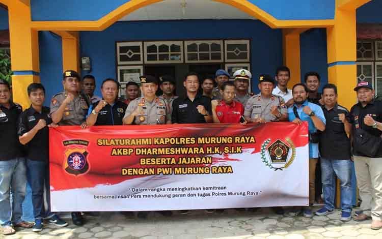 PWI Murung Raya bersama Kapolres Murung Raya dan jajaran,Selasa,3 Desember 2019
