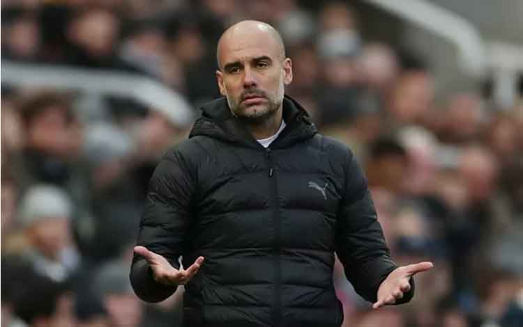 Manajer Manchester City Pep Guardiola. (Action Images via Reuters/LEE SMITH)