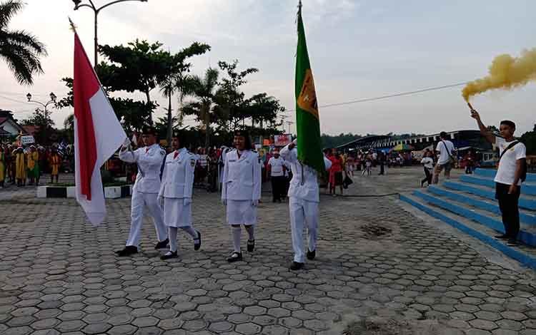 Parade Natal ditaman Kota Kuala Kurun Beberapa Hari lalu