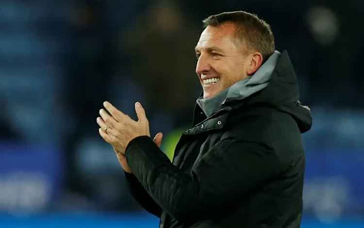 Manajer Leicester City Brendan Rodgers. (REUTERS/ANDREW YATES)