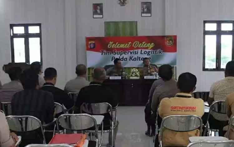 Tim supervisi Polda Kalteng mengunjungi Polres Kapuas dalam rangka supervisi, Selasa, 3 Desember 2019