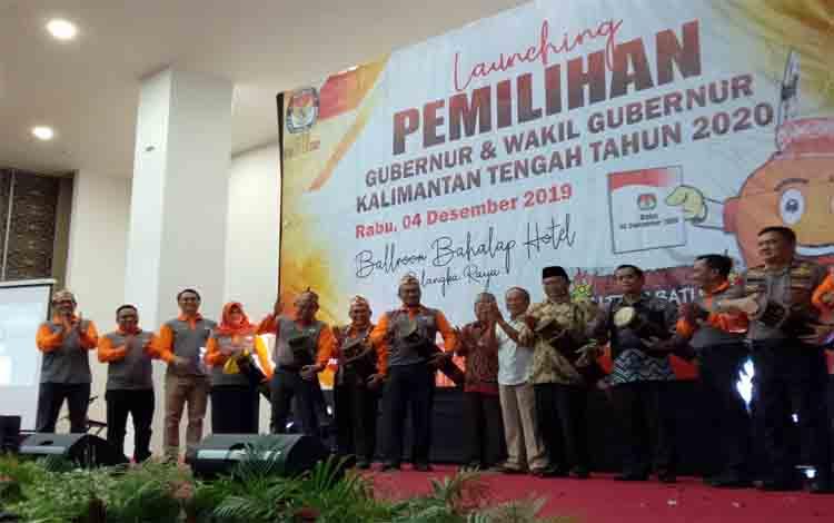 KPU Kalteng melaunching pemilihan gubernur dan wakil gubernur, Rabu 4 Desember 2019