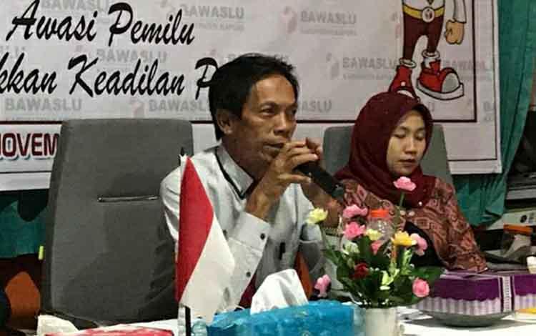 Anggota Bawaslu Kapuas, Libu mengatakan pendaftaran anggpota Panwascam di 4 kecamatan diperpanjang