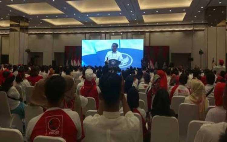 Ketua Umum Projo Budi Arie Setiadi dalam sambutannya menyebut relawan Projo akan selalu setia mendukung Jokowi