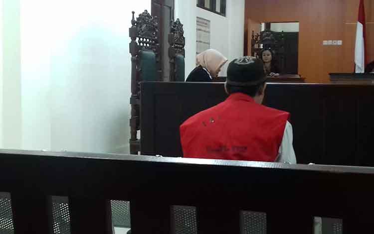 Lod, terdakwa kasus penganiayaan di Pengadilan Negeri Sampit.