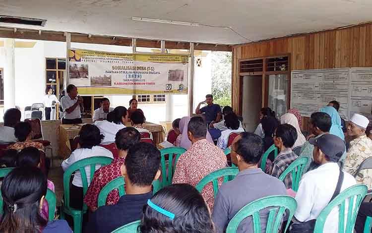 Sosialisasi BSPS bagi penerima manfaat untuk di Kelurahan Tamiang Layang. Rabu, 11 Desember 2019