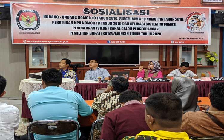 KPU Kotim sosialisasi perubahan aturan Pilkada. Sementara napi korupsi diastikan bisa ikut Pilkada 2020, Jumat 13 November 2019
