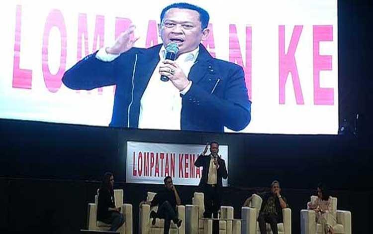 Ketua MPR RI Bambang Soesatyo yang akrab disapa Bamsoet mengingatkan generasi milenial agar tidak alergi dengan politik
