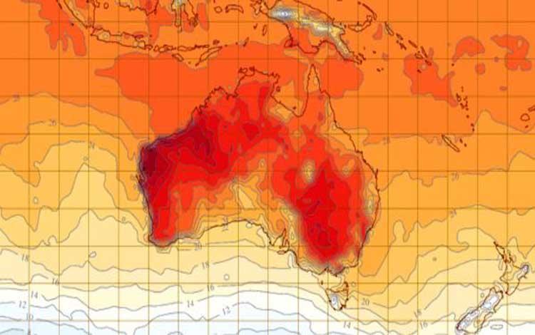 Australia kemungkinan akan mengalami hari paling panas sepanjang sejarah pekan depan