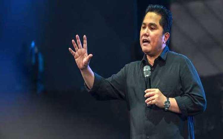 Menteri BUMN Erick Thohir menginginkan generasi muda milenial bisa menjadi bos BUMN