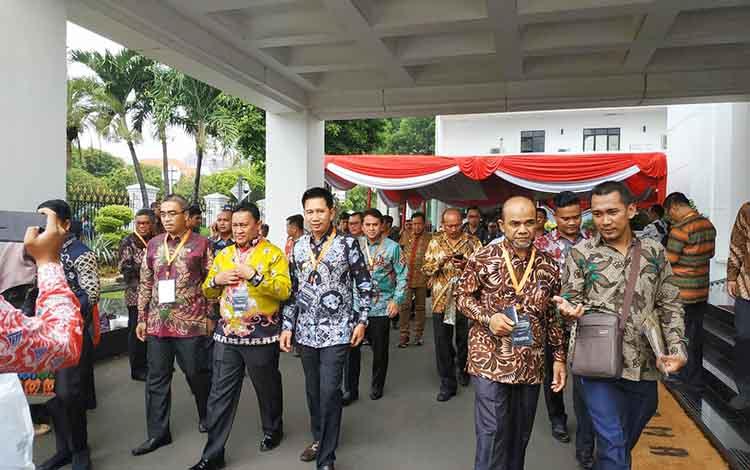 Bupati Barito Utara, Nadalsyah saat menghadiri Musrenbangnas Rencana Pembangunan Jangka Menengah Nasional (RPJMN) 2020-2024 di Istana Negara, Jakarta, Senin 16 Desember 2019.