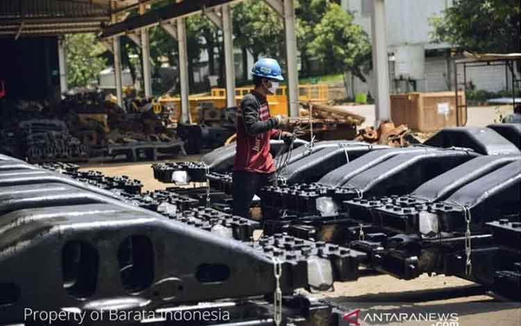 Komponen kereta api produksi PT Barata Indonesia. (Barata Indonesia)