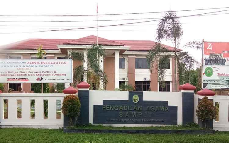 Kantor Pengadilan Agama Sampit. Ada dua kecamatan yang terbanyak sebaran janda baru di Kotim.