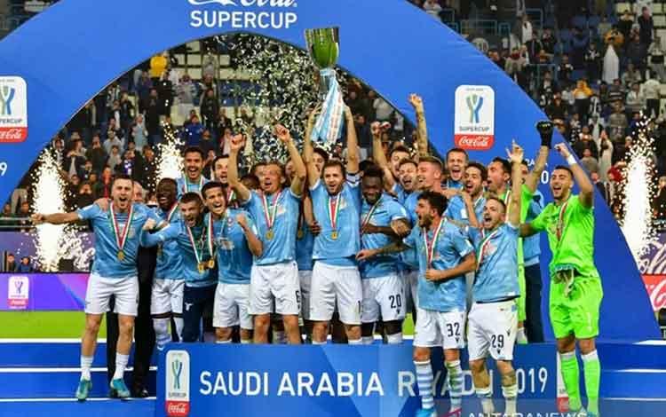 Hantam Juve, Lazio Lima Kali Juara Piala Super Italia