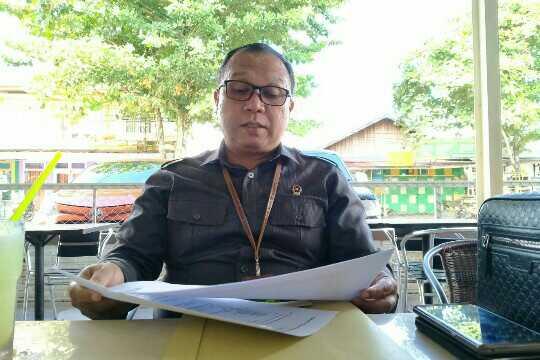 Ketua Pengadilan Negeri Sampit AF Joko Sutrisno saat memaparkan perkara yang ditangani sepanjang 2019.