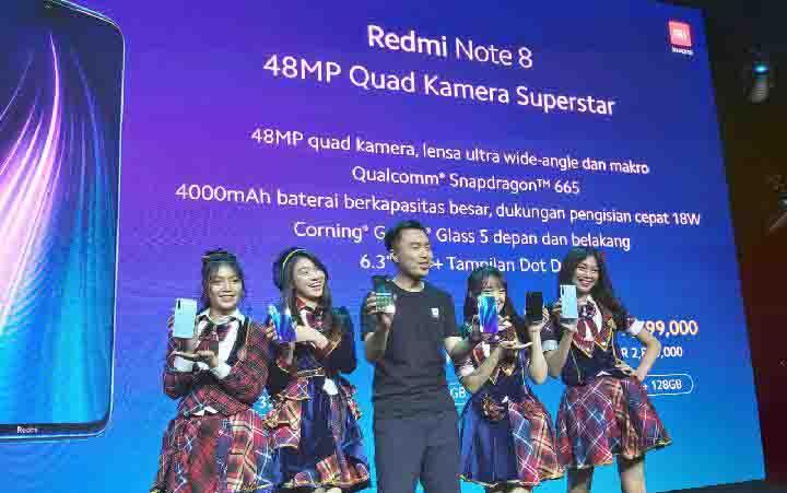 Peluncuran Redmi Note 8 Series. (foto : TEMPO/Khory)