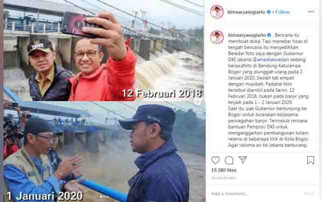Bima Arya kesal menjadi korban hoaks Guntur Romli. (foto : instagram.com/bimaaryasugiarto)