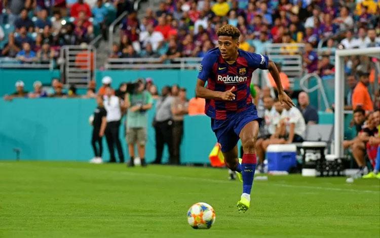 Bek Barcelona Jean-Clair Todibo. (REUTERS/USA TODAY Sports/Jasen Vinlove)