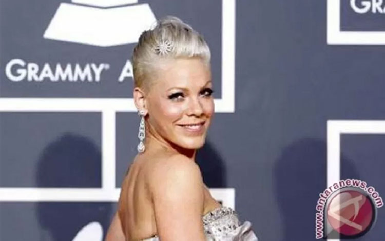 Penyanyi pink pada Penghargaan Grammy ke-52 (Antarasumsel.com/REUTERS/Mario Anzuoni)