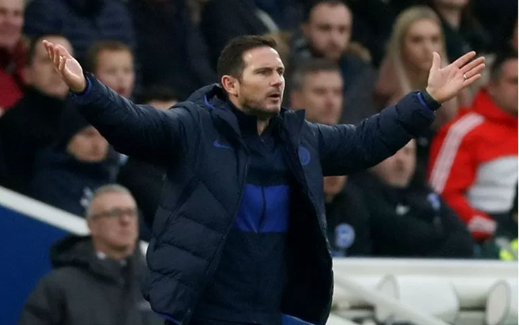 Manajer Chelsea Frank Lampard. (Action Images via Reuters/MATTHEW CHILDS)