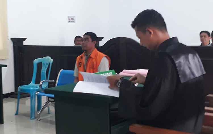 Terdakwa Adi Musdani pengedar sabu asal Kumai, diketahui mantan buruh bongkar muat.