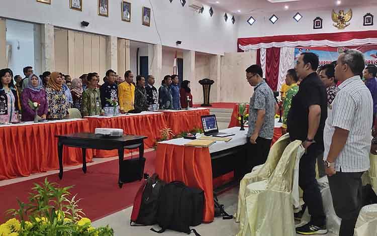 Rapat Koordinasi Teknis (Rakornis) yang digelar Bappenda Kalteng di aula kantor Bupati Sukamara, Jumat, 10 Januari 2020.
