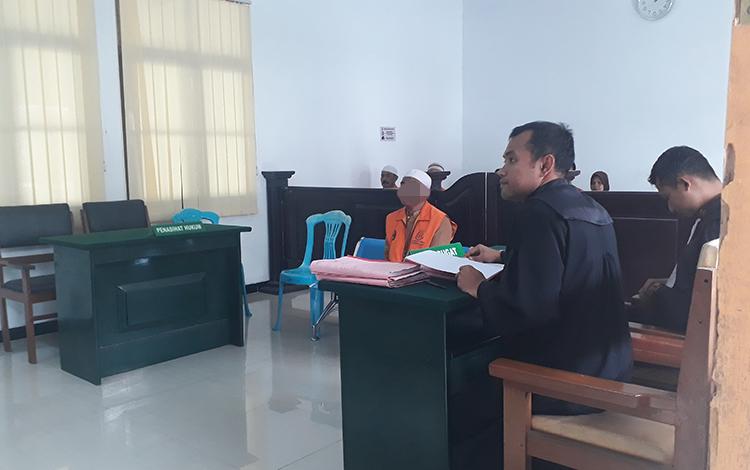 Terdakwa kasus sabu, Saparudin diadili di Pengadilan Negeri Pangkalan Bun, Senin, 13 Januari 2020.
