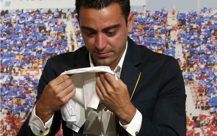 Mantan pemain Barcelona Xavi Hernandez. (REUTERS/Gustau Nacarino)