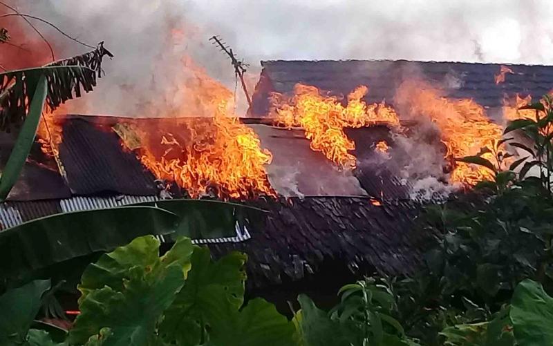 Kebakaran SDN 2 Panarung Palangka Raya, Selasa, 14 Januari 2020 pagi.