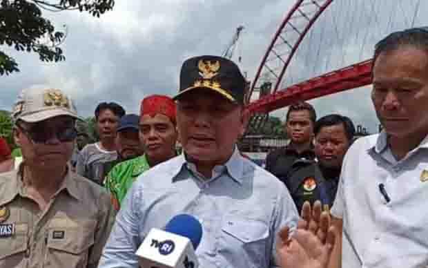 Kunjungan kerja Gubernur Kalteng, Sugianto Sabran ke Kabupaten Katingan, Sabtu, 18 Januari 2020.