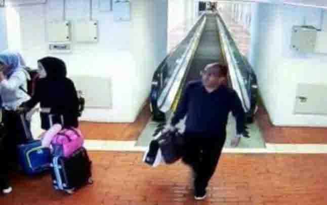 Potongan rekaman CCTV dugaan kedatangan Harun Masiku di terminal Bandara Soekarno Hatta. (foto : tempo.co)