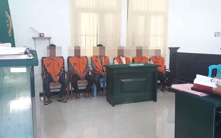 6 Terdakwa penebang liar diadili di Pengadilan Negeri Pangkalan Bun, Selasa, 21 Januari 2020.