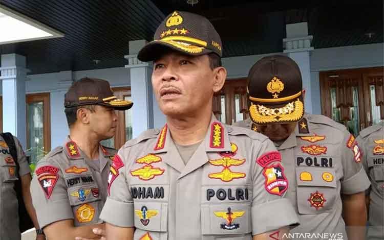 Kapolri Jenderal Pol. Idham Azis saat ditemui di Lanud Halim Perdanakusuma, Jakarta, Jumat (17-1-2020). ANTARA/Fathur Rochman