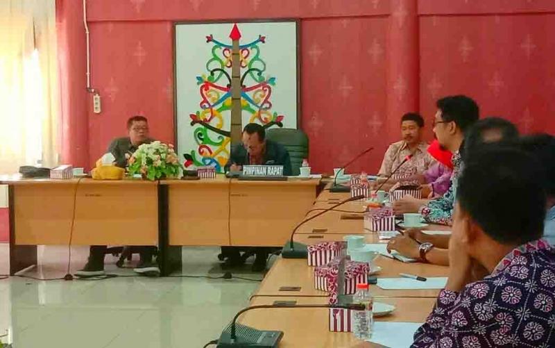 Kunjungan kerja legislator Ponorogo ke DPRD Palangka Raya, Kamis, 23 Januari 2020.