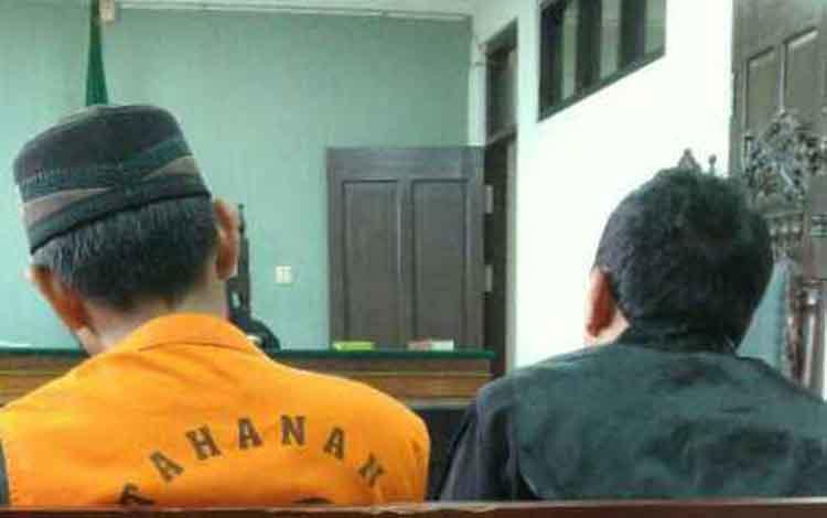 Hermansyah alias Herman terdakwa kasus sabu.