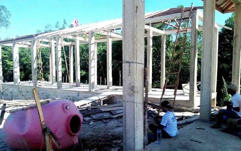 Pembangunan di Desa Pendreh, Barito Utara.